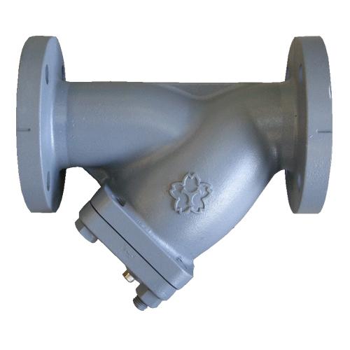 大和バルブ 鋳鉄バルブ Y形ストレーナ F10YE-50A