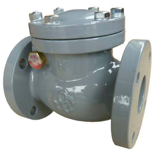 大和バルブ 鋳鉄ナイロン ライニングバルブ(鉛カットバルブ) スイングチェッキ NF10CNE-100A