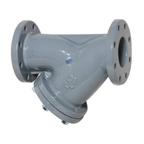 大和バルブ 鋳鉄ナイロン ライニングバルブ(鉛カットバルブ) Y形ストレーナ NF10YN-250A