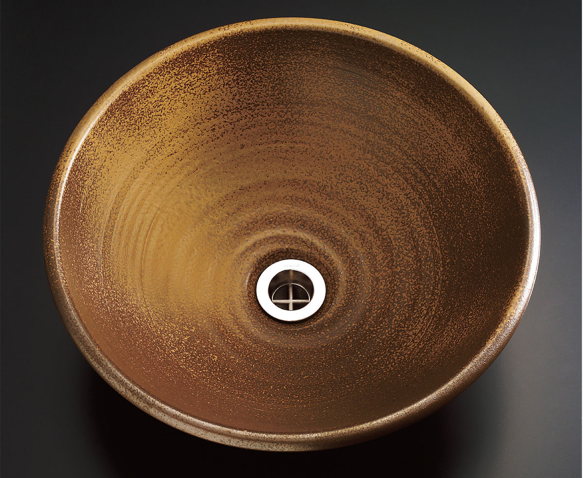 INAX  XSITE  手洗器 備前 備州窯(びしゅうがま)胡麻  L-BZ-C35/BS2