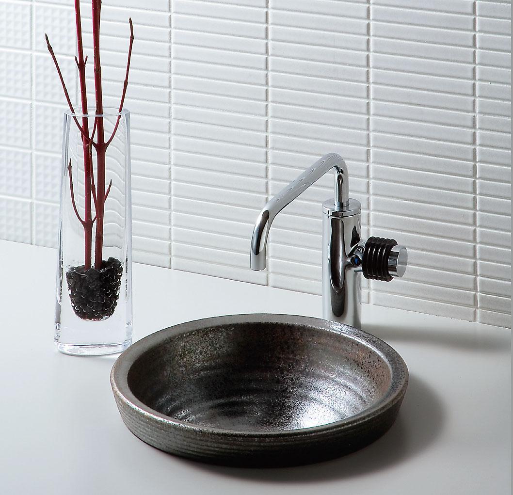 INAX XSITE 手洗器セット 信楽 壺新小型手洗器 L-SR-22/XN1