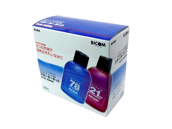 バイコム  スーパーバイコムスターターキット 海水用 250ml(硝化菌専用基質1本付) 用品・器具  水質管理関連  バクテリア