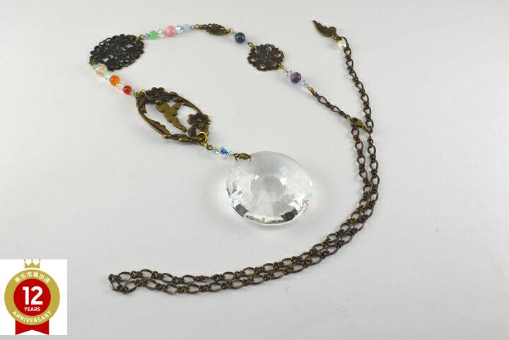 サンキャッチャー(天使のモチーフとクリスタルガラス)