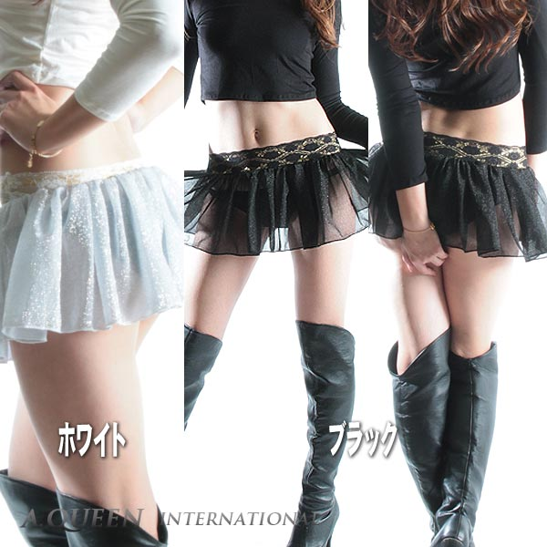 Sheer ラメスカート ☆/d [cosplay lingerie faux leather tight CAMI tank, Lowrise, showing bra