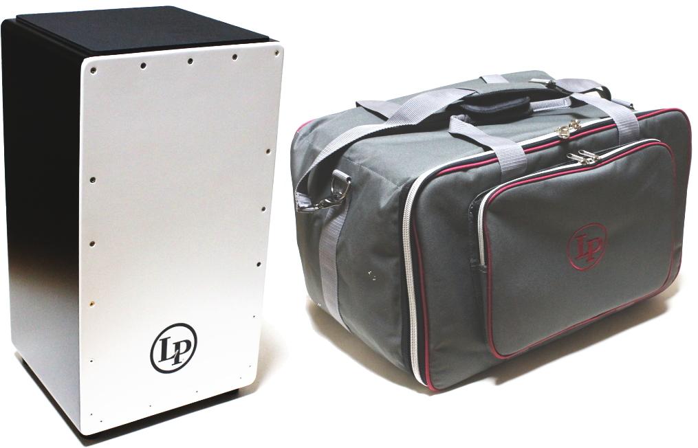 送料無料 LP パーカッション ホワイト Prism 市販 Cajon LP1425-FW 迅速な対応で商品をお届け致します LP製 丈夫なソフトケースプレゼント White カホン