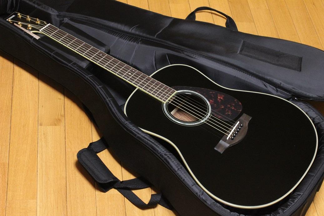 YAMAHA LL6 ARE BLブラックチューナーお手入れ用クロスワインダーストラップ交換用弦ピックx2枚プレゼント!