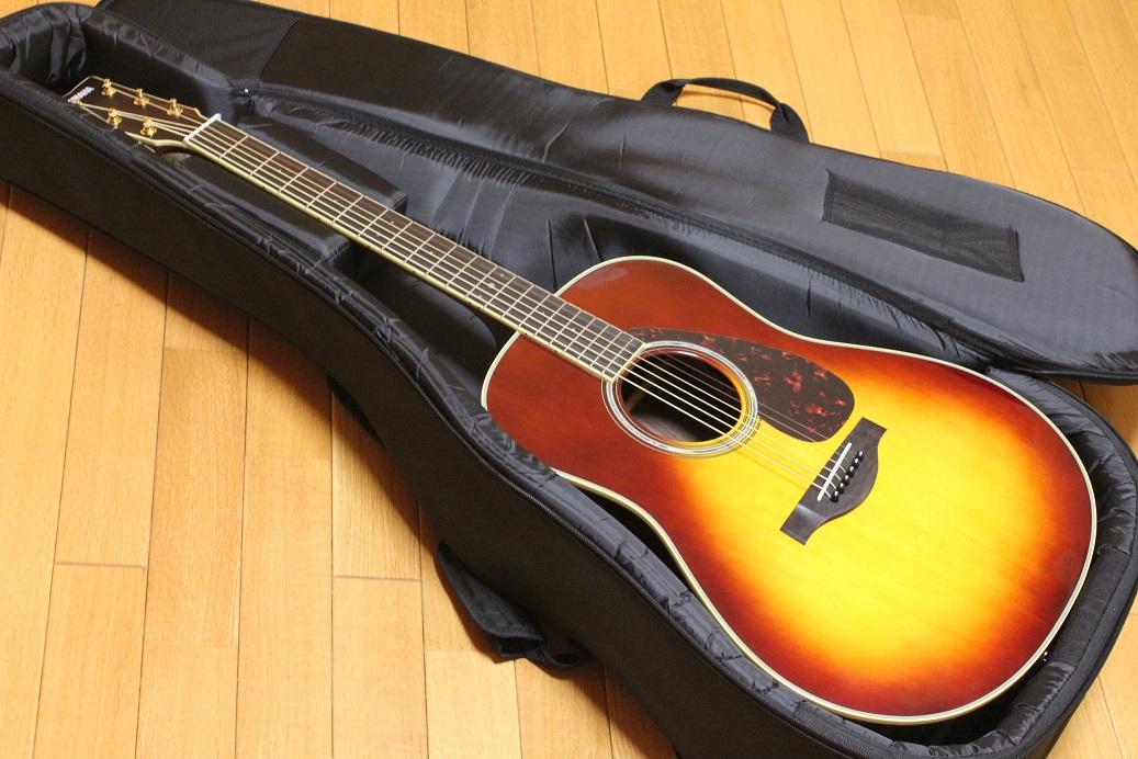 YAMAHA LL6 ARE BSブラウンサンバーストチューナーお手入れ用クロスワインダーストラップ交換用弦ピックx2枚プレゼント!