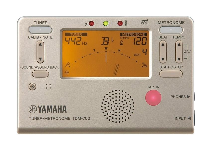 送料無料 TDM700 ゴールドヤマハ 至高 チューナーとメトロノームが同時に使えるデュアル機能搭載 TDM700G TDM-700G YAMAHA 大放出セール