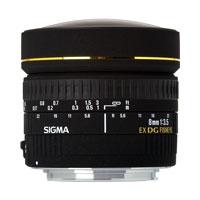 【送料無料】シグマ 広角レンズ 8mm F3.5 EX DG CIRCULAR FISHEYE ニコンマウント JAN末番5597
