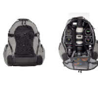 TENBA バックパック 中サイズ 品番632-311 シルバー/ブラック Medium Backpack