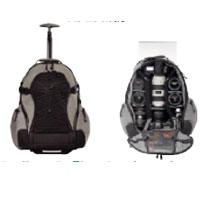 TENBA バックパック 中サイズ ローラー付き 品番632-341 シルバー/ブラック Medium Rolling Backpack