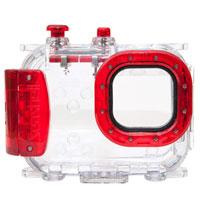 【送料無料】エツミ コンパクトカメラ用水中ハウジング Seashell SS-2 ルビーレッド JAN末番1026