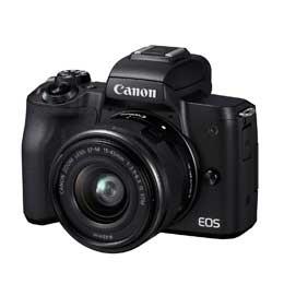 Canon EOS Kiss M EF-M15-45 IS STM レンズキット [ブラック] ※撮ってもHAPPYキャンペーン 2020/10/06迄