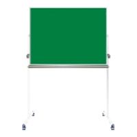 【送料無料B】ナカバヤシ グリーンボード 黒板 両面回転脚付 ホ-GK-US34 1300×550×1860