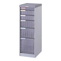 【送料無料B】ナカバヤシ メディシス・フロアタイプA4 書類棚 書類整理 H900 MAF-107N グレー