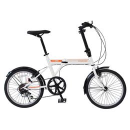 【送料無料】ミムゴ ACTIVEPLUS911 ノーパンクFDB206SF / ノーパンク20インチ折畳自転車 6段ギア MG-G206NF-WH 【北海道・沖縄・離島配送不可】