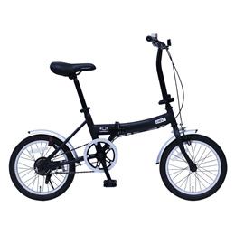 ミムゴ CHEVROLET FDB16G/シボレー16インチ折畳自転車 ブラック MG-CV16G
