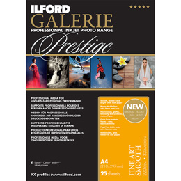 ILFORD Galerie Prestige Fine Art Smooth A3+ 25枚