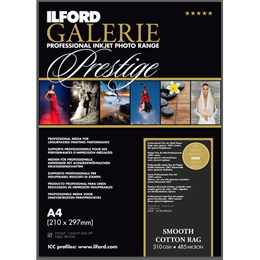 ILFORD GALERIE Prestige Smooth Cotton Rag A3+ 25枚