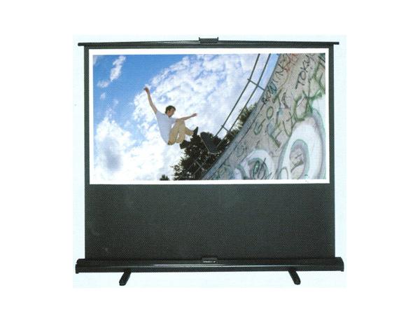 【代引き不可】 コンパクト収納 グランヴュー モバイルタイプ 60型 GUP-60WXW 床置き 立ち上げスクリーン WXGA