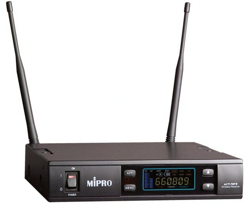 【代引不可】Mipro ワイヤレス受信機(シングルチャンネル) ACT-707S