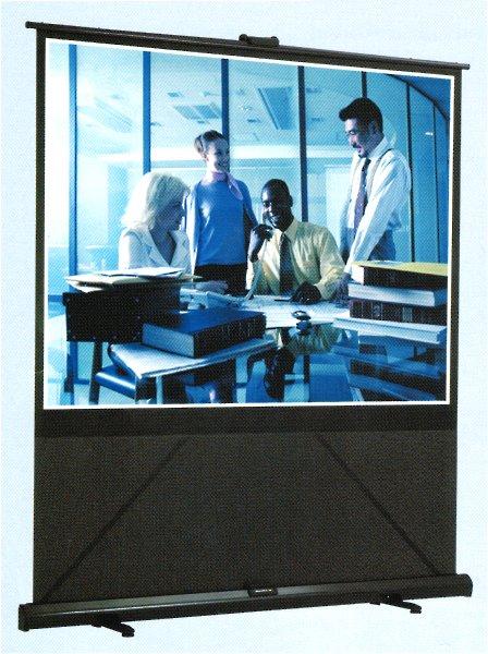 【代引き不可】 グランヴュー モバイルタイプ 80型 GFP-80W 床置き 立ち上げ スクリーン NTSC