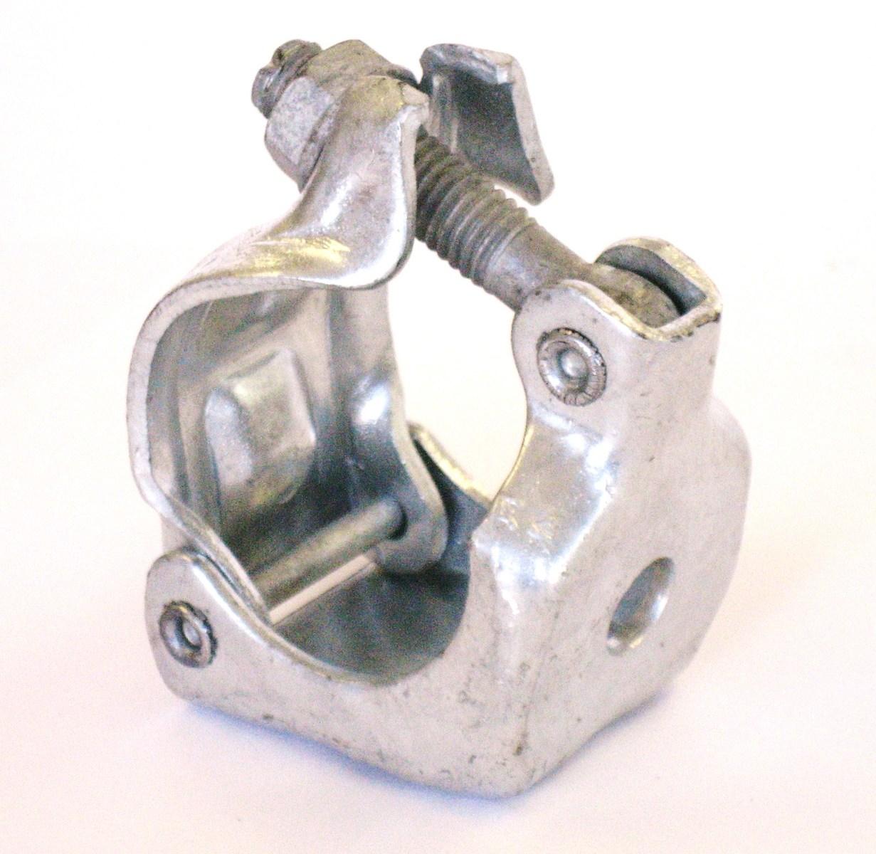 48.6φ同径ドブメッキ 5☆大好評 溶融亜鉛メッキ 単クランプ 13φ穴開き オーバーサイズフランジナットを使用し ナット ボルト リベットもALLドブメッキ 1個 JIS規格50μオーバーの被膜厚 単管パイプ用 超激安特価 ARC-8D ドブメッキ 0.35kg 同径48.6φ バラ