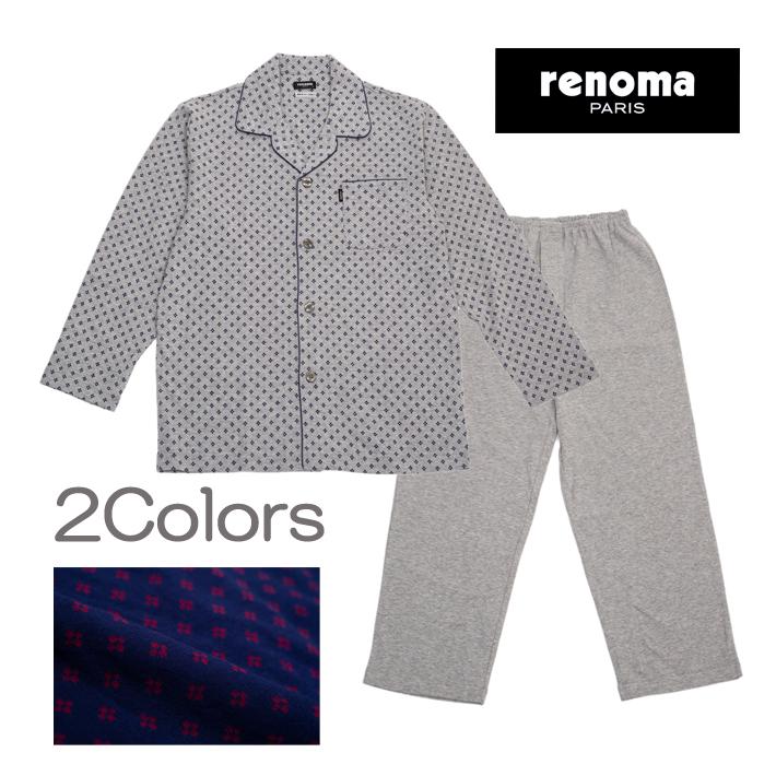 【renoma】接結天竺 ジャガード メンズ パジャマ