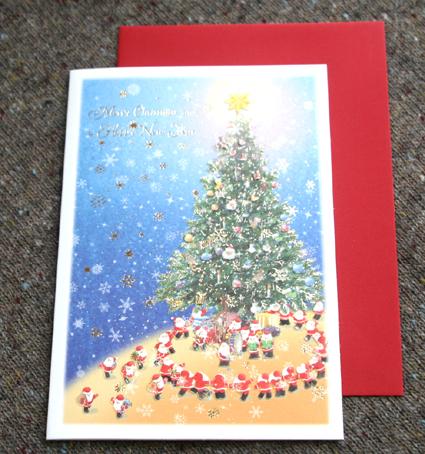 売上の一部が世界の恵まれない子供の医療支援に メルヘンクリスマスカード『輪になって踊ろう』 【グリーティングカード・ギフトカード・メッセージカード・greeting card message】【ネコポス可】
