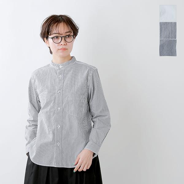 【2019aw新作】RINEN(リネン)100/2ブロードコットンスタンドカラーシャツ 36011-mm