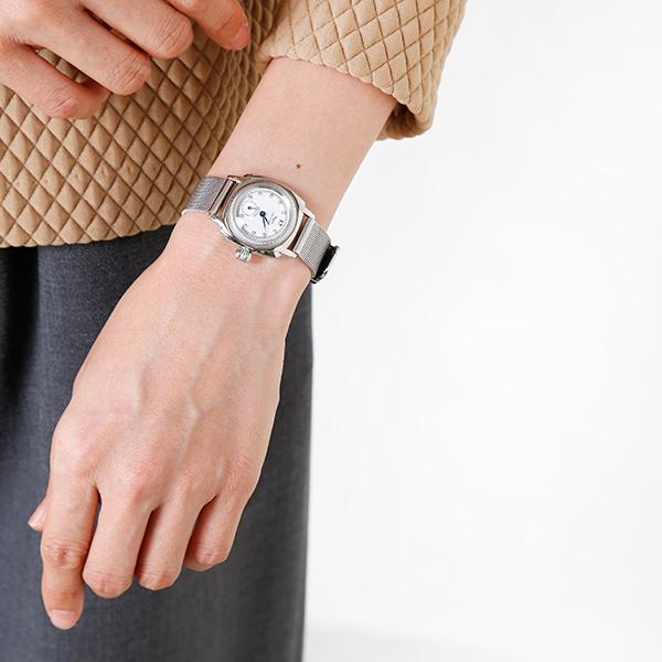 """Vague Watch Co.(ヴァーグウォッチカンパニー)ステンレススチールメッシュベルトアナログウォッチ""""COUSSIN Stn"""" co-s-22000-rf"""