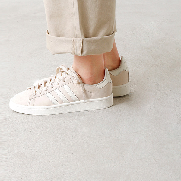 "adidas Originals (Adidas originals) pigskin leather three stripe sneakers ""CAMPUS"" cp-sn"