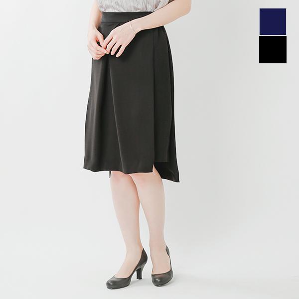 whyto(ホワイト)ダブルサテンフロントタックタイトスカート wht17hsk1-so【サイズ交換初回無料】