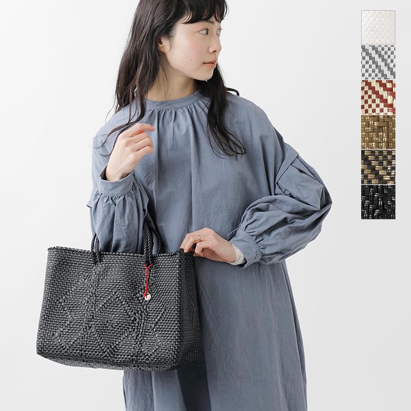"""OJO DE MEX (オホデメックス) basket knitting tote bag """"Chino"""" plastico-cagotote-68-ms"""