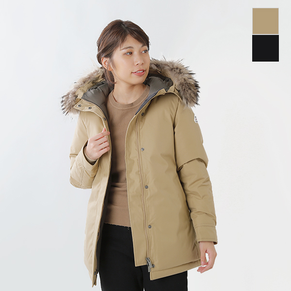 654333a35 aranciato: PYRENEX (ピレネックス) French gabardine raccoon fur food ...