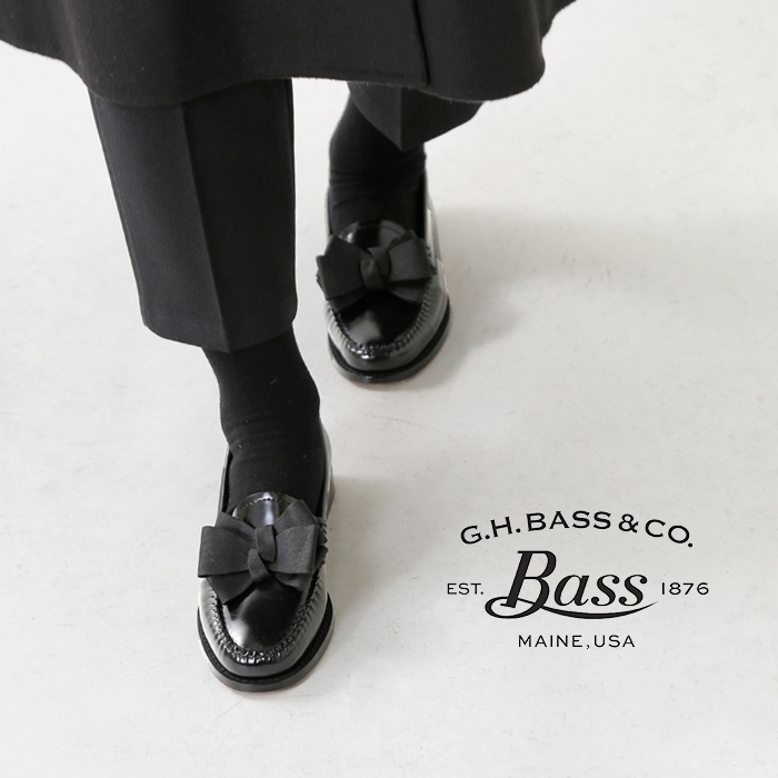 403bc81e41b aranciato  G.H.BASS (G H bus) ribbon leather loafer