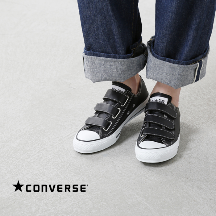 CONVERSE (Converse) all stars leather 3 Velcro sneakers