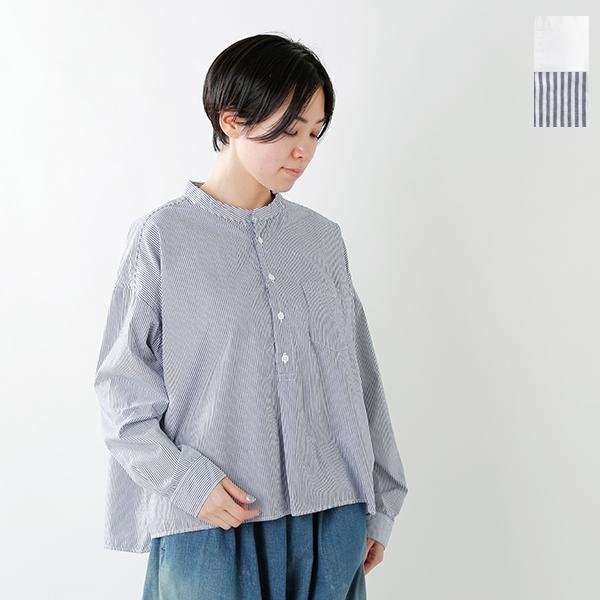 【2020ss新作】D.M.G(ドミンゴ)コットンスタンドカラーシャツ 16-405x-406x-fn