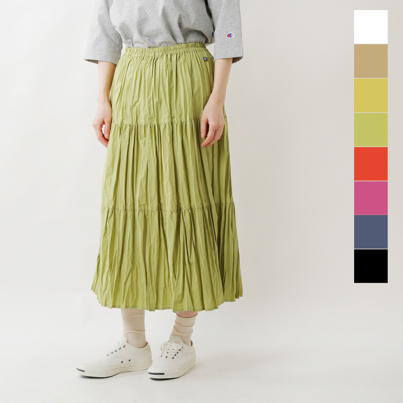 【2019ss新作】Rockmount(ロックマウント)しわ加工ソリッドカラーロングスカート sp9999solids-tr