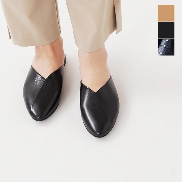 """【最大42倍】volare(ヴォラーレ)ポインテッドトゥレザースリッパサンダル""""LEATHER SLIPPER"""" leather-slipper-ma【サイズ交換初回無料】"""