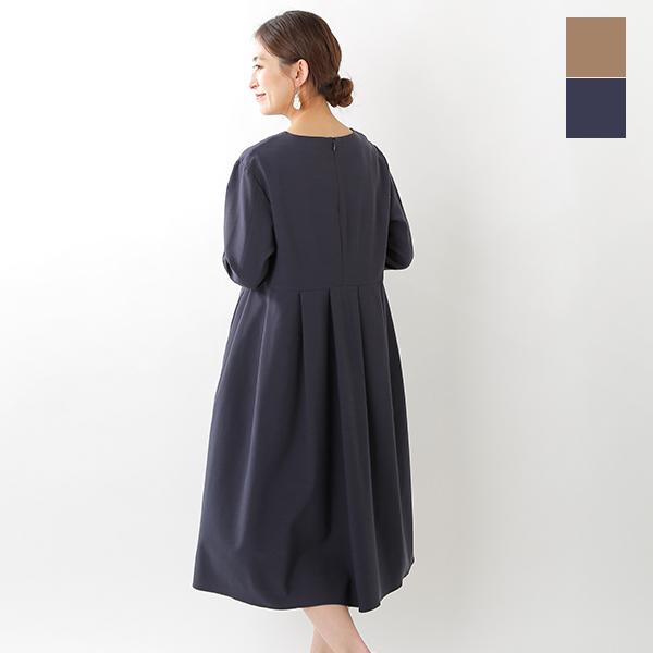 【クーポン対象】【2020ss新作】SONO(ソーノ)カルゼストレッチタックドレス s201dv064-yn