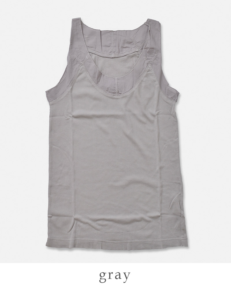 creacion (Clare Sion) 100/2 Giza cotton tape recorder sleeveless cut-and-sew 40010-so