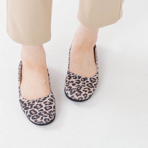"■ fs/ny (エフエススラッシュエヌワイ) Leopard ballet shoes ""sloop leopard"" and standard products"