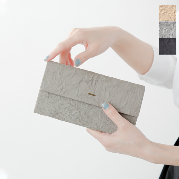 """【ラクーポン対象】irose(イロセ)シワ加工ロングウォレット""""paper long wallet"""" acc-p15-mt"""