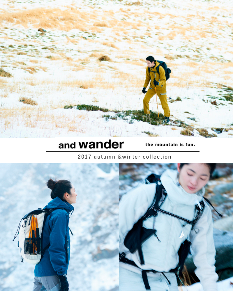 """And wander (앤 원더) 드라이 저지 롱 T 셔츠 """"dry jersey long sleeve T for WOMEN"""" aw-jt926-ms"""