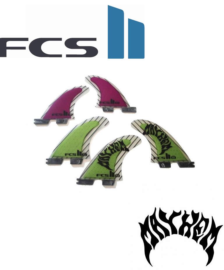 【新品】 FCS(エフシーエス) 【FCS II MB PC TRI-QAUD Carbon 】サイズL カーボン素材 メイヘム MAYHEM トライ クアッド 5枚SET フィン