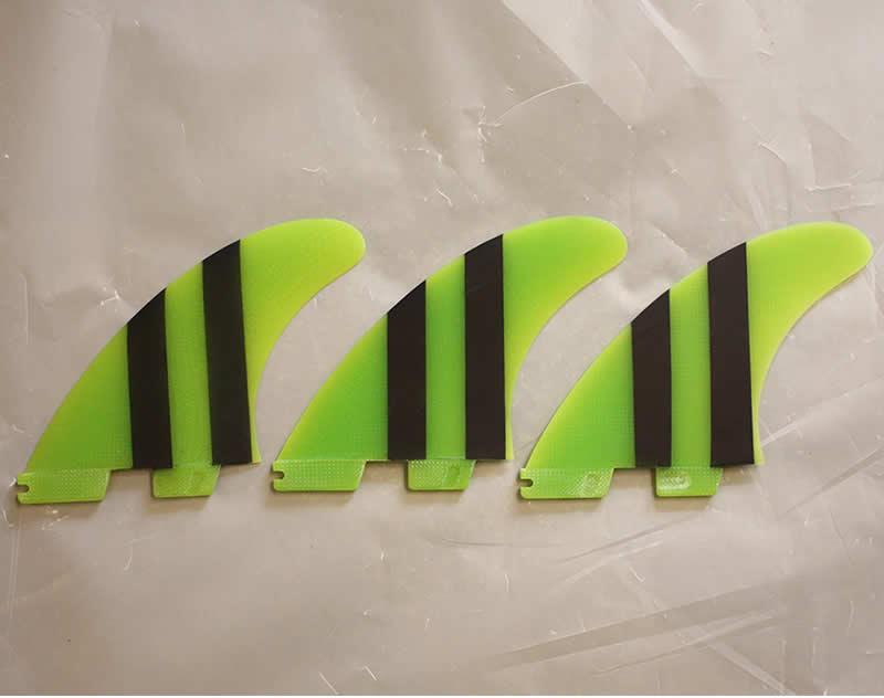 【在庫あり】 【新品】FCS(エフシーエス)FCSII CARVER PG TRI FIN L [GREEN/BLACK] トライ フィン 3枚セット サイズL, モントレ セレクトショップ ad78527b