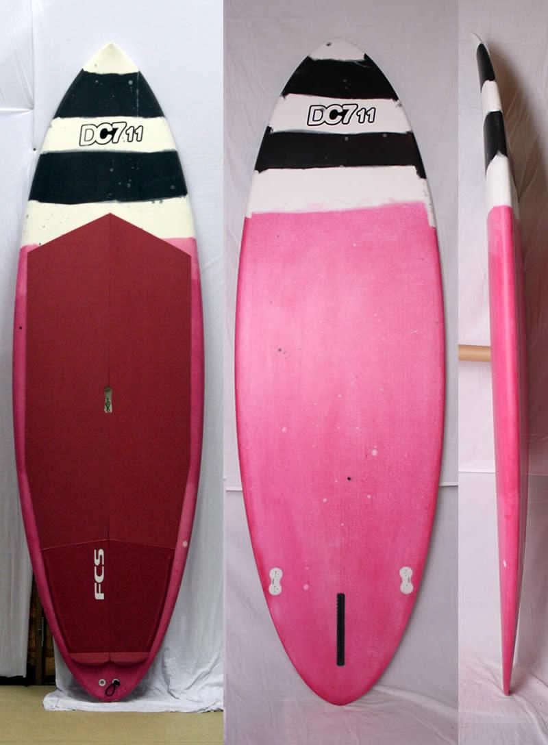 【新品アウトレット】DC(デールチャップマン)WAVE SUP[PINK/BLACK/WHITE]7'11