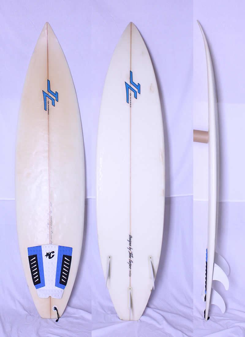 【中古】JC HAWAII(ジョンカーパー ハワイ)サーフボード [CLEAR] 6'4