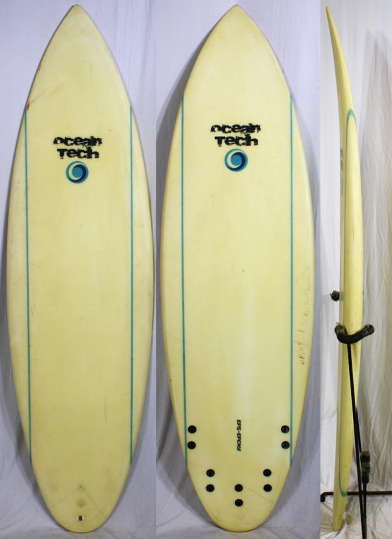 【中古】 Ocean Tech SurfBoard サーフボード [CLEAR] 5'8